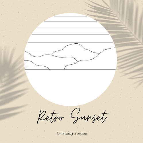 Retro Sunset - Embroidery Template PDF