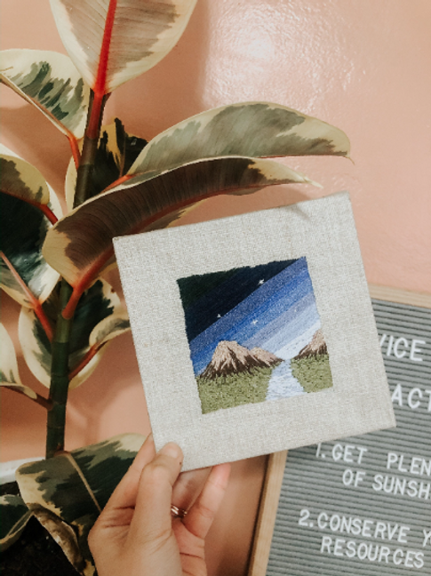 Mountain Embroidery | Landscape Embroidery