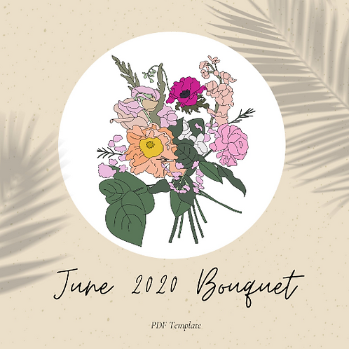 June Bouquet - Embroidery Template PDF