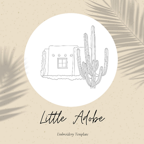 Little Adobe - Embroidery Template PDF