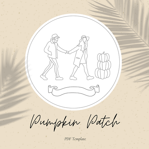 Pumpkin Patch - Embroidery PDF Pattern
