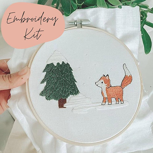 Feeling Foxy Embroidery Kit
