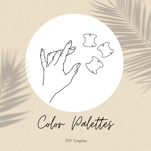 Color Palettes Embroidery Template