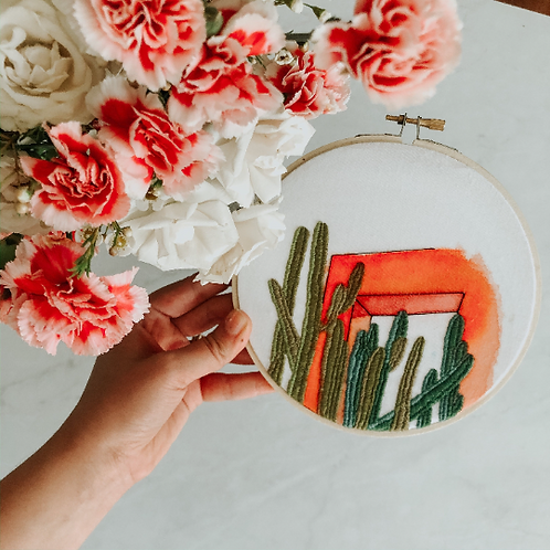 Fun in the Garden | Landscape Embroidery
