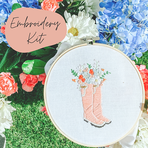 Garden Boots Embroidery Kit