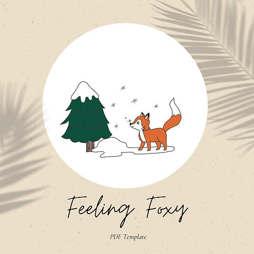 Feeling Foxy - Embroidery Template