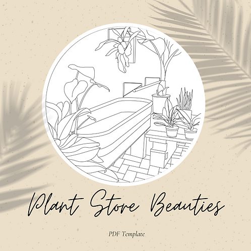 Plant Store Beauties Embroidery Template