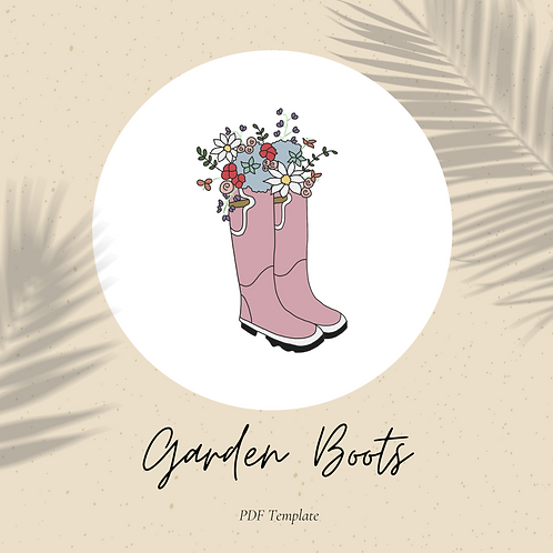 Garden Boots - Embroidery PDF Pattern