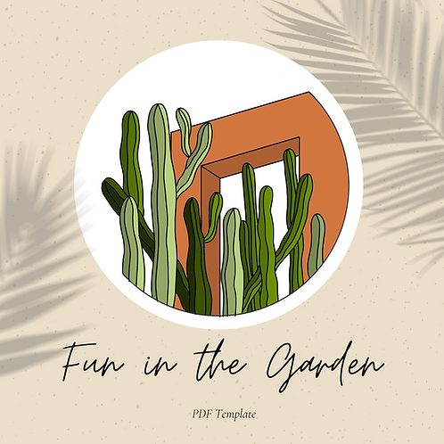 Fun in the Garden Embroidery Template
