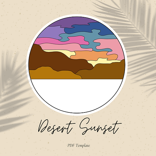 Desert Sunset - Embroidery Template