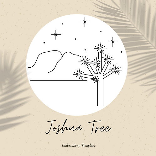 Joshua Tree - Embroidery Template PDF