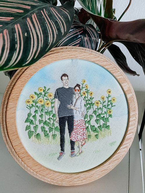Personalized Portrait Embroidery Hoop