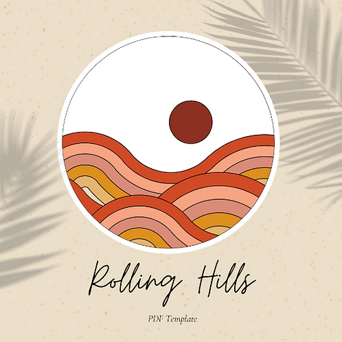 Rolling Hills - Embroidery Template PDF
