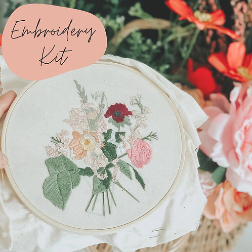 Dreamy Bouquet Embroidery Kit