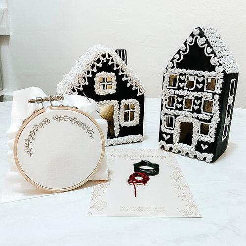 Mini Wreath Embroidery Kit