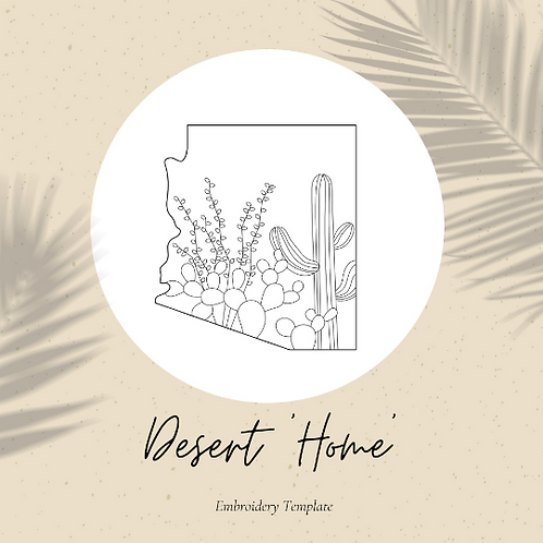 Arizona - Embroidery Template PDF