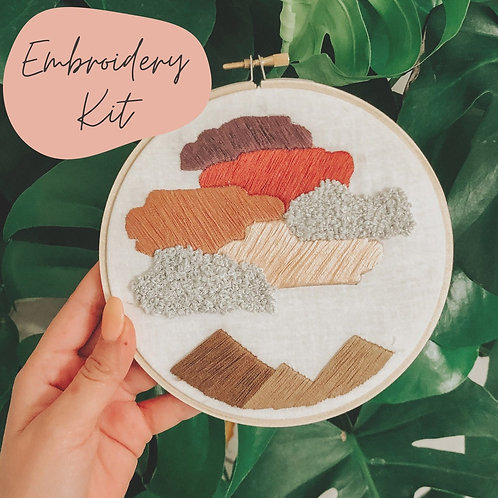 Cotton Candy Skies Embroidery Kit