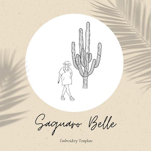 Saguaro Belle - Embroidery Template PDF