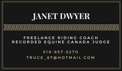 Janet Dwyer Business Card