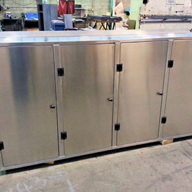 Aluminium locker cabinets