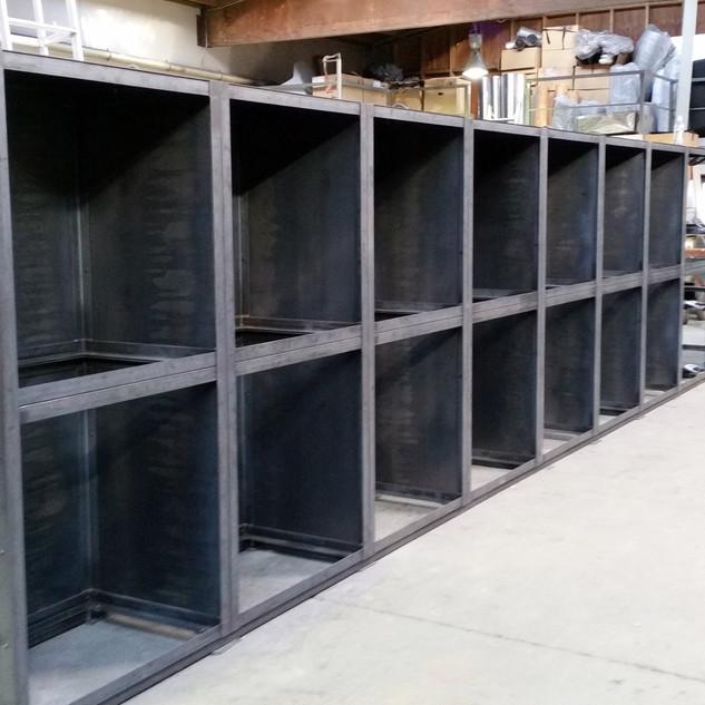 Steel wood bin fabrication