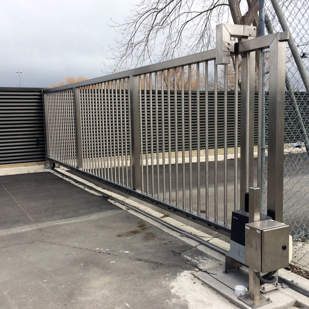 Stainless steel industrial automatic sliding gates