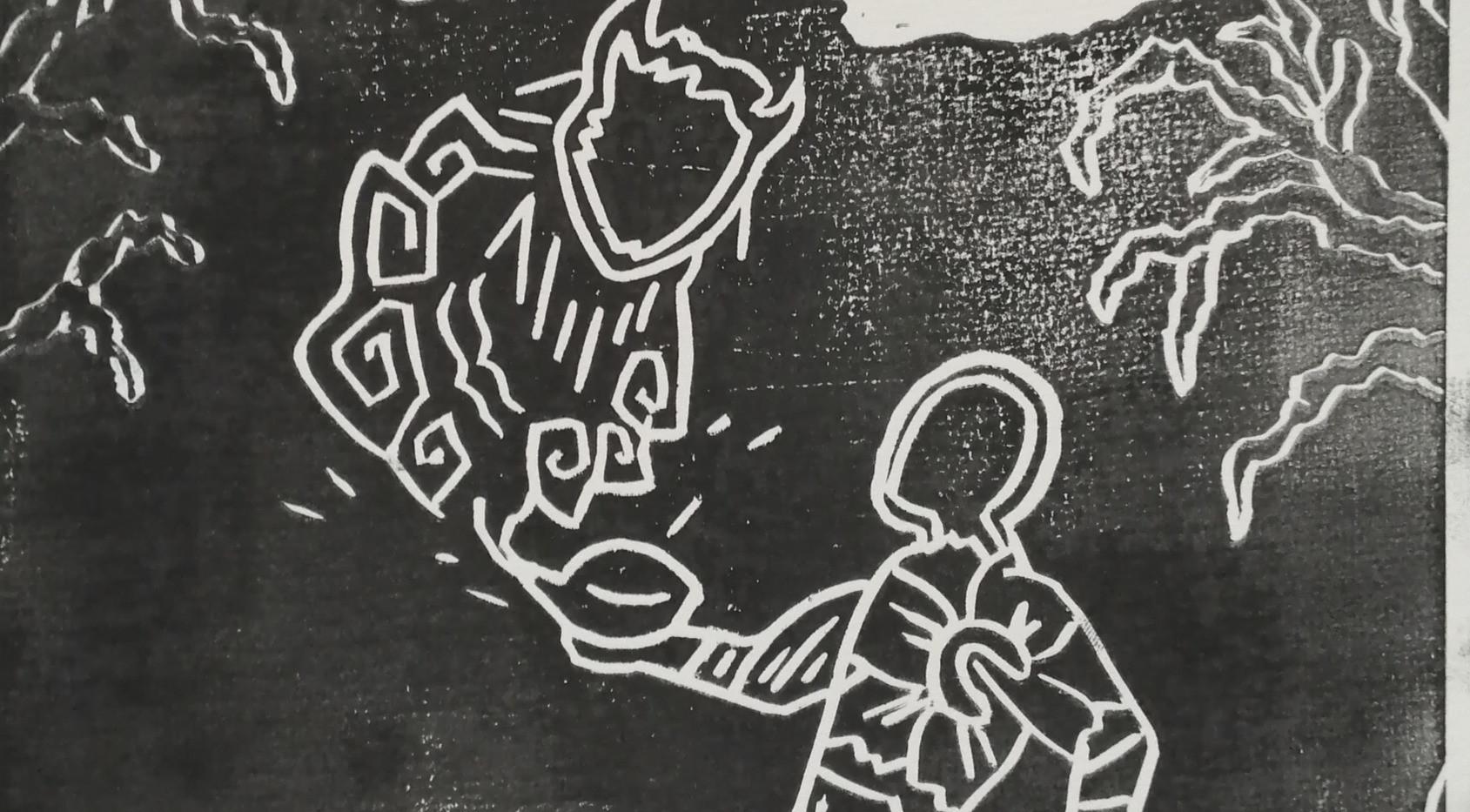 Genie (black/white)