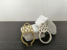 Messing prototype and silver ring.