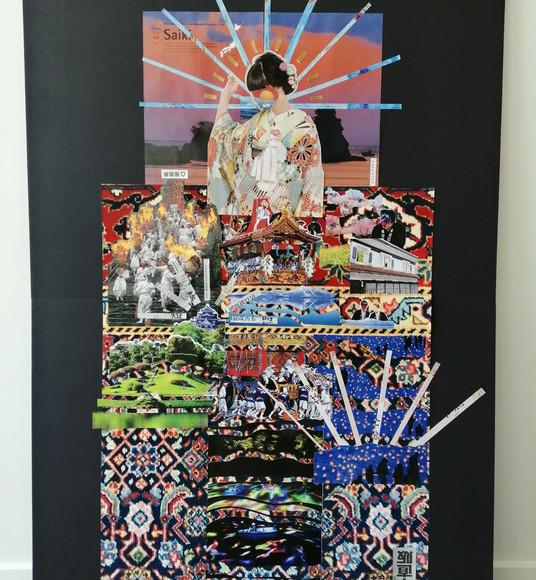 Geisha (Collage Art)