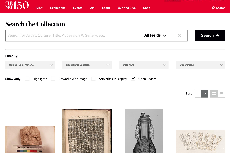 メトロポリタン美術館(The Met collection)