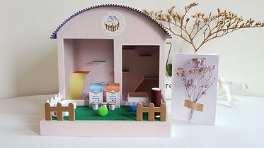 貓咪庭院紙紮屋