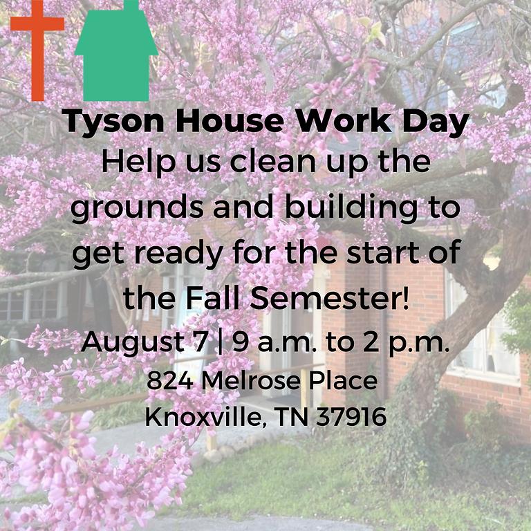 Tyson House Work Day