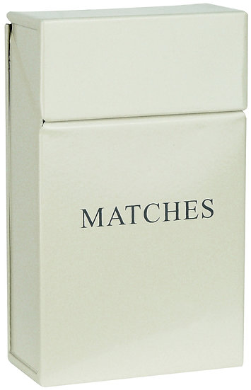 Cream Matches Holder
