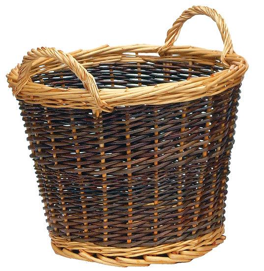 Two Tone Log Basket