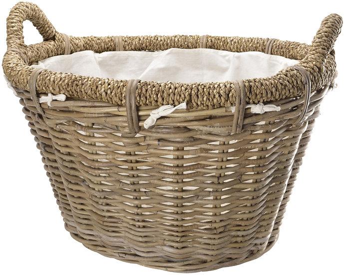Rosewood Rattan Basket