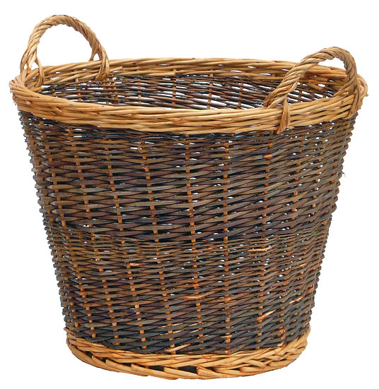 Two Tone Log Basket