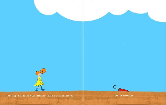 Ella's Umbrella by EQ Wright (Ella Tuesday picture book series) page 01-02