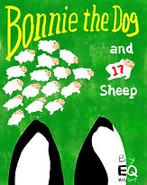 Bonnie the Dog and 17 Sheep by EQ Wright
