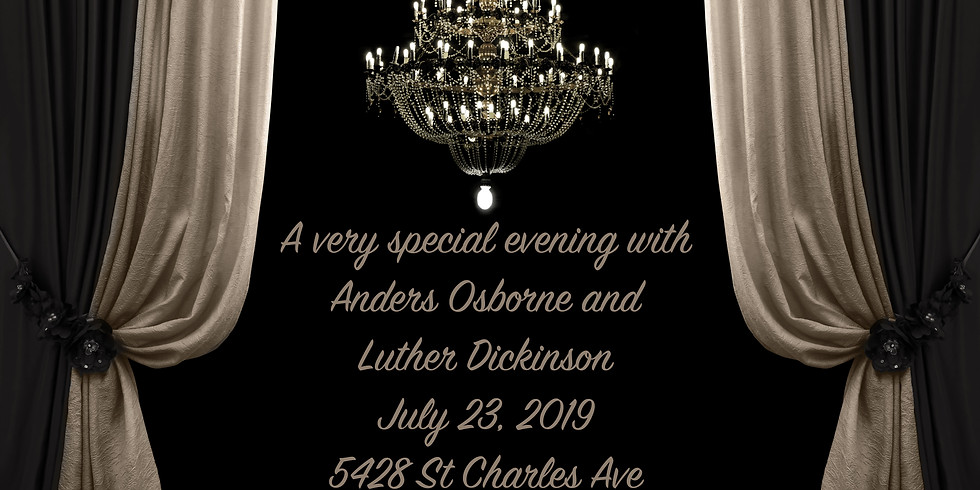 A very special evening with Anders Osborne and Luther Dickinson