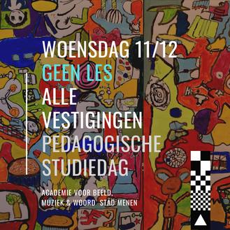 GEEN LES op 11/12 | pedagogische studiedag