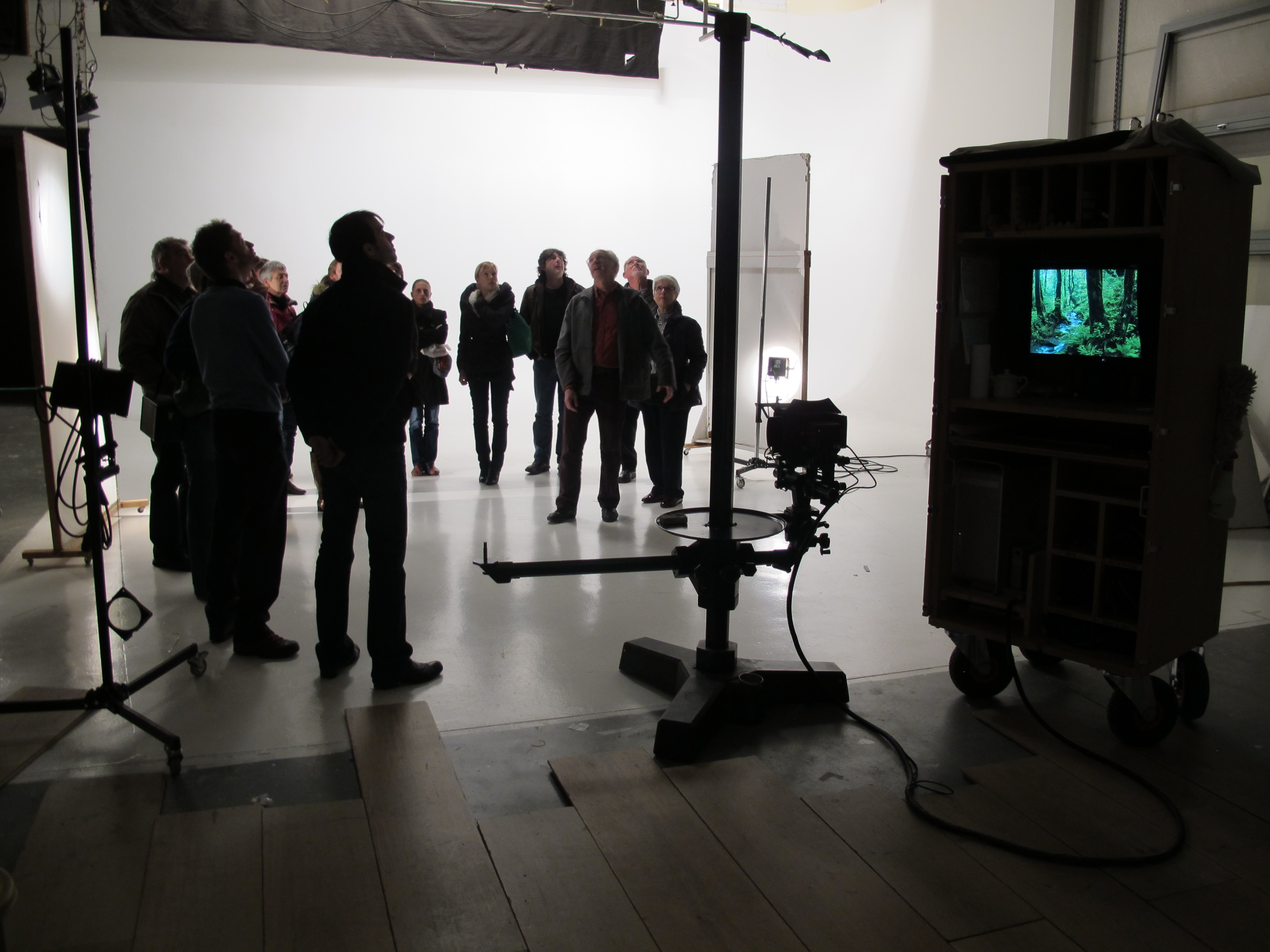 bezoek aan professionele studio