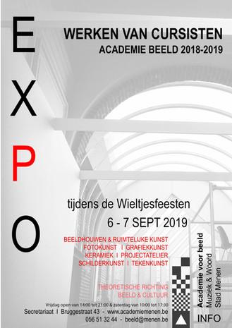EXPO 18+ | Cursisten BEELD 2018-2019 stellen tentoon in de Hoofdschool te Menen.