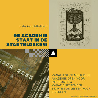 Lessen starten vanaf 8 september!