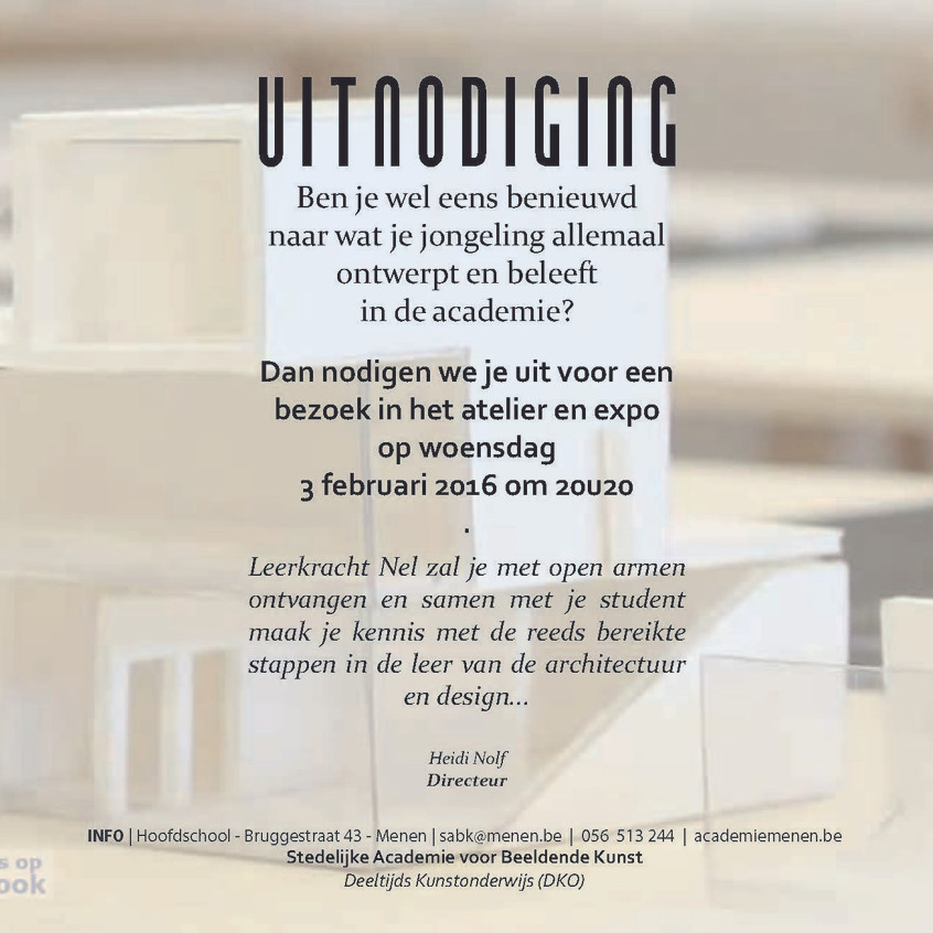 Uitnodiging oudercontact architect