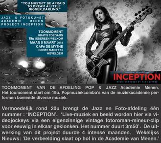 FOTOKUNST/JAZZ | 05/03-INCEPTION waar twee werelden elkaar versterken ...