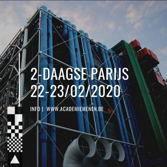 PARIJS 22-23/02  | 2-Daagse Studiereis