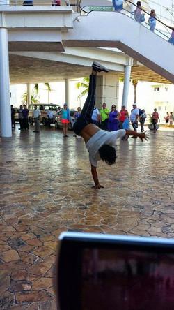 Breakdancer in mall