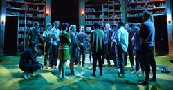 Love's Labour's Lost cast huddle