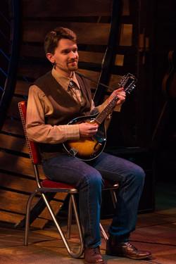 Brian playing mandolin