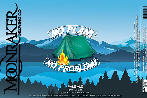 No Plans No Problems (Camping) - 4 Pack